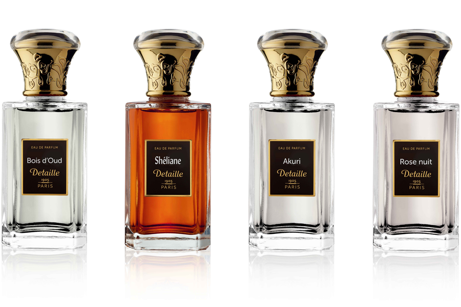 Detaille Perfumes packaging